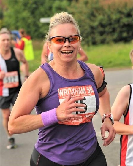 Jude Durrant, as always, running and racing with a smile on her face Picture: Lenny Blakemore