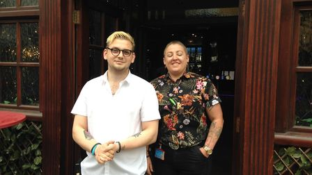 Bar manager Christopher (left) and owner Gail Taylor said that the turnout at Peggoty's had been goo
