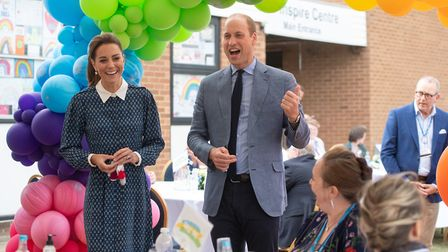 The Duke and Duchess of Cambridge during their visit to Queen Elizabeth Hospital in King's Lynn as p