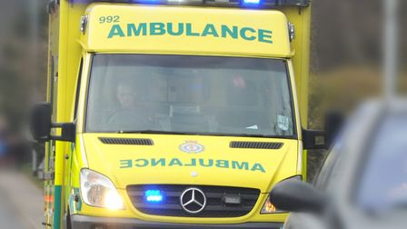 A person was taken to hospital after a crash at Terrington St Clement. Picture: Simon Finlay