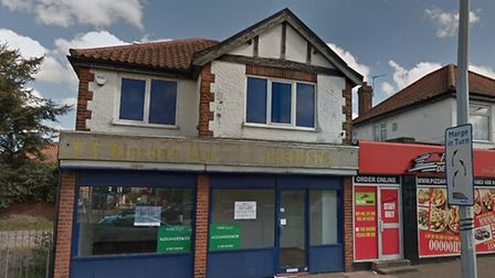Plans have been approved to turn this shop in Aylsham Road into a restaurant and takeaway. Pic: Goog