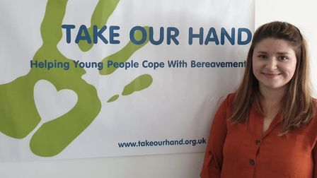 Alexandra Gough, 27, from Lowestoft, has launched a beravement charity for young people, Take Our Ha