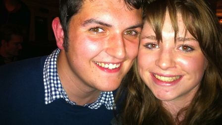 Oliver Greenard and girlfriend Alex Gough in the last photo taken before Oliver died. Photo: Alex Go