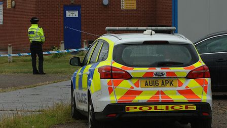 Police cordoned off the Kingsway Pavilion, off Riversway, King's Lynn, following an incident in whic