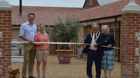 Hill Farm Barns luxurious holiday lets in Little Massingham opened to guests on July 4, with an offi