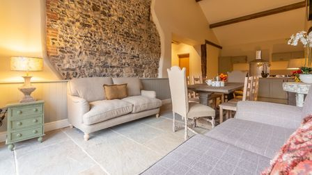 The seating area in Fallow Folly, Hill Farm Massingham. Picture: Iceni Imaging