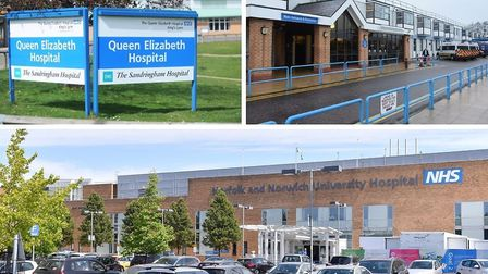 The Norfolk and Norwich University Hospital and Queen Elizabeth Hospital in King's Lynn have reporte