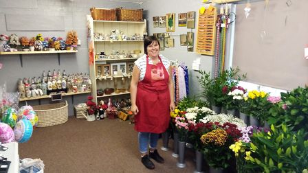Penney Spall who is opening Penney's Flowers and Crafts Centre on July 1. Picture: Cathryn Lloyd