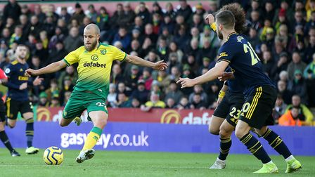 Can Teemu Pukki end his goal drought against Arsenal tonight? Picture: Paul Chesterton/Focus Images