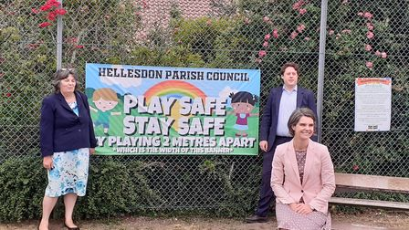 New play equipment unveiled at Hellesdon Recreation Ground. Picture: Natasha Carver