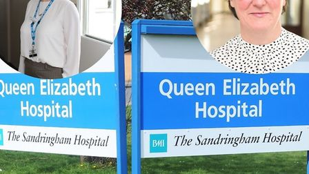 Dr Frankie Swords and Denise Smith of the Queen Elizabeth Hospital. Picture: QEH/Ian Burt