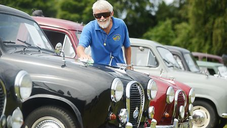 Briad Mead with his 1958 Austin A35. Picture: Ian Burt