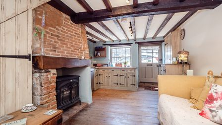 What it doesn't have in size it has in character - this one-bedroom cottage in Holt is for sale for