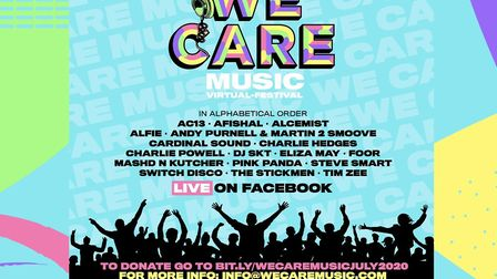 The We Care Music festival will take place on July 3 and 4 2020. Picture: We Care Music