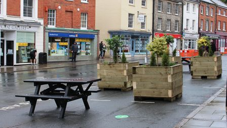 Benches have been added to North Walsham's market place. Picture: Casey Cooper-Fiske