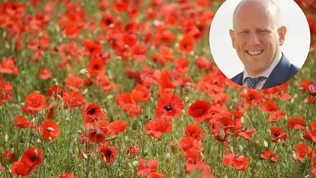 A poppy field in Keswick is due to be turned into an industrial estate. Inset: Craig Knights of Norw