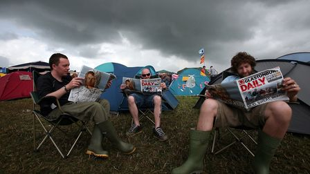 The clouds gather at Worthy Farm in 2007 (Photo by Matt Cardy/Getty Images)