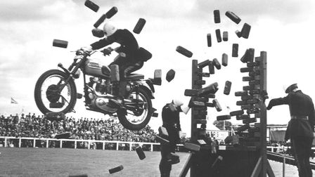 Royal Norfolk Show Gallery. Motorcycle display team at the Royal Norfolk Show. Dated 3 July 1964