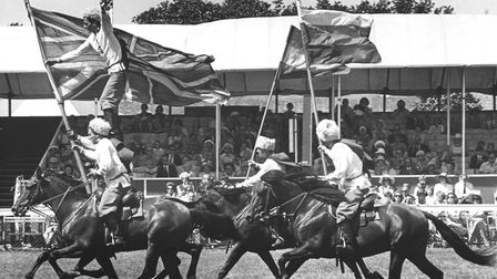 Cossack riders at the 1976 Royal Norfolk Show
