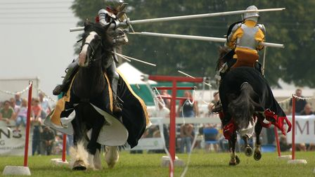 Picture of the Royal Norfolk Show 2005 at the Costessey Showground. Action from the Chevalerie Initi