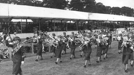 Royal Norfolk Show Gallery. W.R.A.F. Military Band. Dated 1 July 1953 Photograph C0205