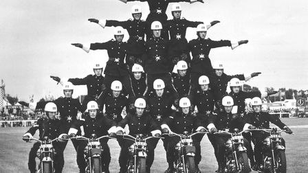 Royal Norfolk Show Gallery. Motorcycle display team at the Royal Norfolk Show. Dated July 1964 Ph