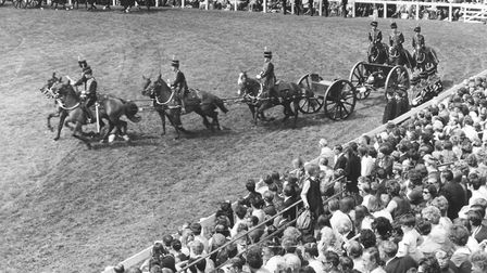 Royal Norfolk Show Gallery. The disciplined riding of the King's Troop Royal Horse Artillery. Dated