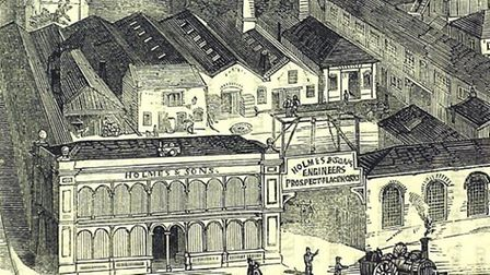 Crystal House when it was a workshop and foundry for Holmes & Son in Victorian times