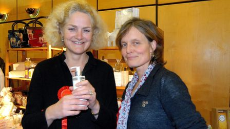 Clare Agnew (L) with Isabel Cator. Lady Agnew has been announced as a deputy lieutenant for Norfolk.