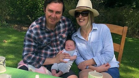 Norwich couple Paddy and Annabelle Davitt welcomed their son, Thomas, into the world during the coro