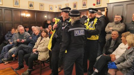 Police were called to a meeting of Attleborough Town Council in February as eight councillors backed