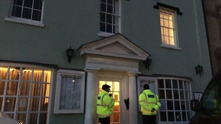 Security blocked the public and press from entering Attleborough Town Hall in February 2020 as the f