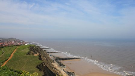 The spectacular views over Sheringham seafront from Beeston Hills putting green. Photo: KAREN BETHE