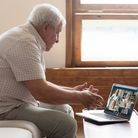 Elderly people have thrived during lockdown when it comes to computers and video calls. Picture: Get