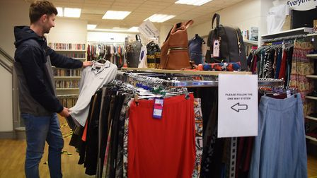 The new normal, how life is now after Covid-19 restrictions have been eased. Tom Chapman shops in th