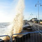 Waves crash over Lowestoft during the 2013 storm surge, Picture: Nick Butcher