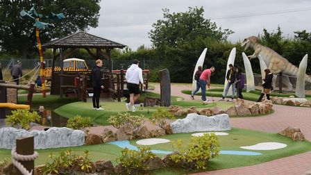 Crazy golf at Congo Rapids, in Easton, can be enjoyed at a safe distance from others. Picture: DENIS