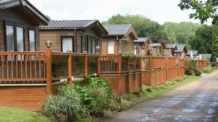 Some of the holiday homes already at the holiday and leisure park at Haveringland Hall Country Park,