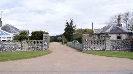 The entrance to Haveringland Hall Park at Cawston. PICTURE: Denise Bradley