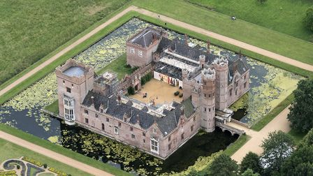 An aerial image of Oxburgh Hall, taken by John Fielding from his microlight aircraft. Picture: John