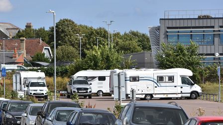 The Travellers, who set up camp on the Pakefield Road car park in Lowestoft, have now left the area.