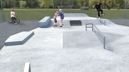 Visualisations of the new skate park in Cobholm, Great Yarmouth. PHOTO: Great Yarmouth Borough Counc