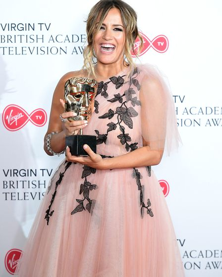 Love Island presenter Caroline Flack at the British Academy Television Awards 2018. Picture: Ian Wes