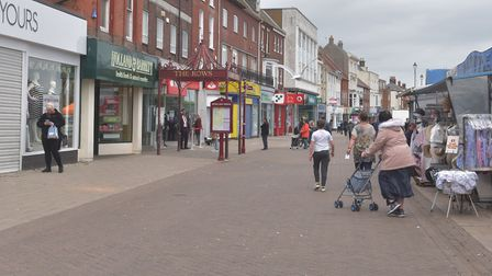 Great Yarmouth town centre. Market place, shops reopening as lock down is lifted. Pictures: BRITTANY