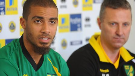 Norwich City striker Lewis Grabban is one of the new faces poised to be on show at Dereham on Saturd