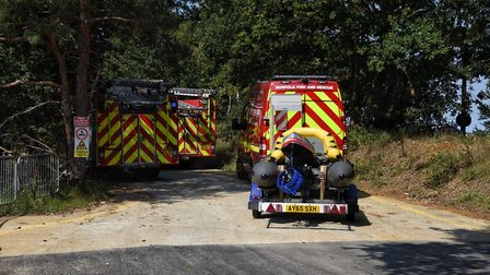 A search and rescue operation is under way at Bawsey Pitts, near King's Lynn. Photo: Ian Burt