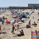Lowestoft beach on July 31 as the temperatures soared. Picture: Mick Howes
