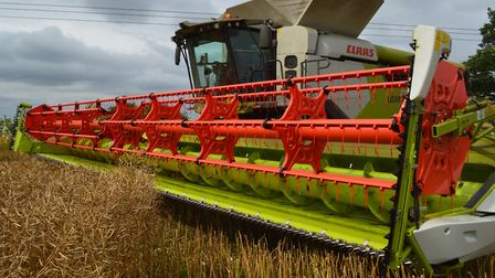 Organised crime gangs are targeting Norfolk farms to steal GPS systems from hi-tech machines like th
