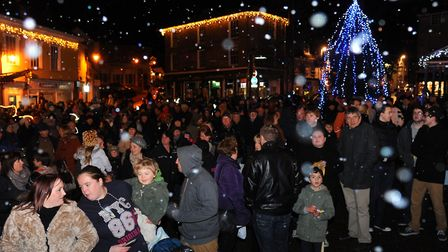 The annual Christmas lights switch-on in Diss has been cancelled. Picture: Archant