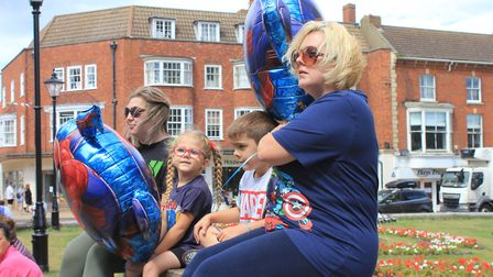 Hundreds turned out to say a final farewell to six-year-old Benny Pitcher, who has lost his battle a